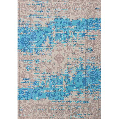 Enchanted Hand-Tufted Aqua/Ivory Area Rug