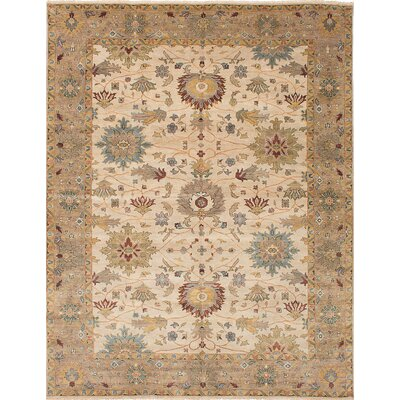 Heirloom Hand-Woven Ivory Area Rug Rug Size: 8 x 102