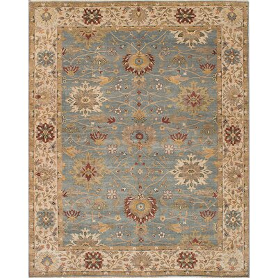 Bassford Hand-Woven Light Turquoise Area Rug Rug Size: 8 x 910