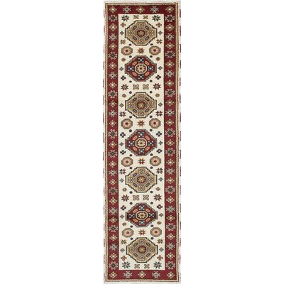 Royal Kazak Hand-Woven Cream Area Rug