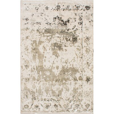 One-of-a-Kind Grasty Hand-Woven Cream Area Rug