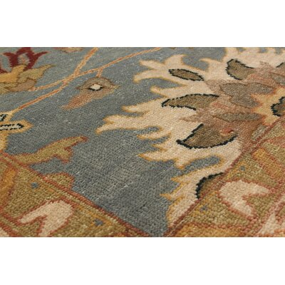 Bassford Hand-Woven Light Turquoise Area Rug Rug Size: 10 x 14