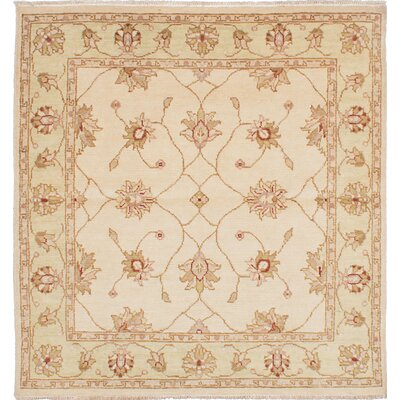 One-of-a-Kind Barrows Hand-Woven Cream Area Rug