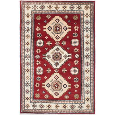 Berkshire Hand-Woven Cream/Red Area Rug