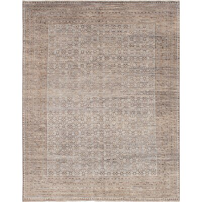 One-of-a-Kind Finest Ushak Hand-Woven Gray Area Rug