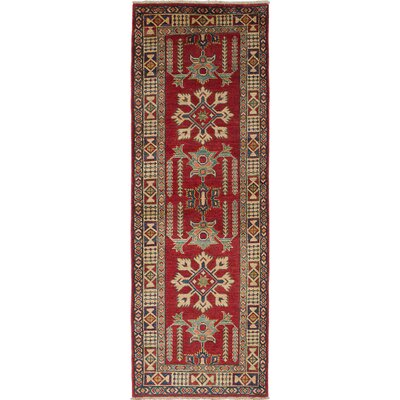 Bernard Hand-Woven Dark Red Area Rug
