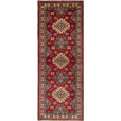 Bernard Hand-Woven Dark Red/Ivory Area Rug