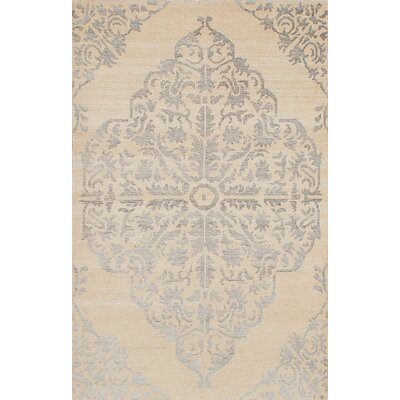 One-of-a-Kind Poplin Hand-Woven Cream Area Rug Rug Size: 410 x 79