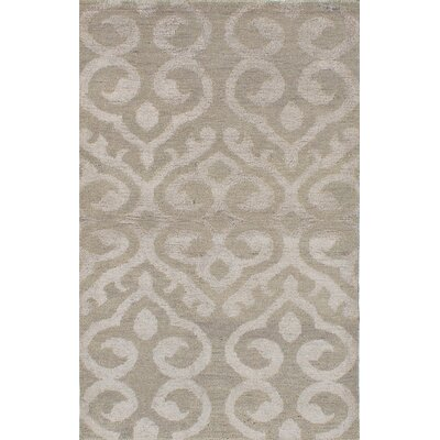 One-of-a-Kind Poplin Hand-Woven Dark Khaki Area Rug