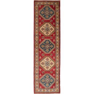 One-of-a-Kind Bernard Hand-Woven Rectangle Cream/Red Area Rug