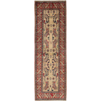 One-of-a-Kind Bernard Hand-Woven Ivory/Red Area Rug