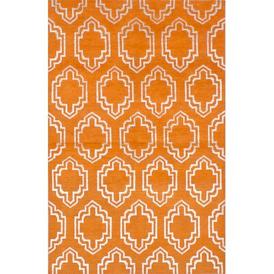 One-of-a-Kind Dearth Hand-Woven Orange Area Rug