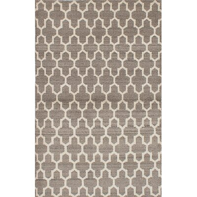 One-of-a-Kind Brewster Hand-Woven Cream/Dark Khaki Area Rug