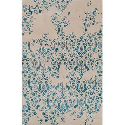 Minotaur Hand-Tufted Ivory/Light Turquoise Area Rug