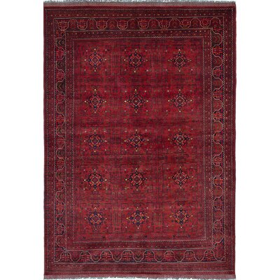 One-of-a-Kind Rosales Hand-Woven Burgundy Area Rug