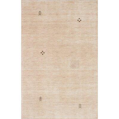 Campos Hand-Woven Cream Area Rug Rug Size: 5 x 711
