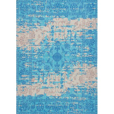 Enchanted Hand-Tufted Aqua Area Rug