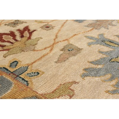 Bassford Hand-Woven Ivory Area Rug Rug Size: 10 x 14