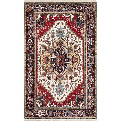 Briggs Hand-Woven Cream/Red Area Rug