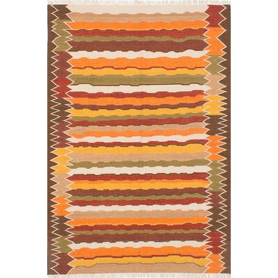 Barnett Hand-Woven Gold/Orange Area Rug