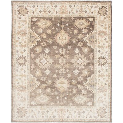 Royal Ushak Hand-Woven Dark Brown Area Rug