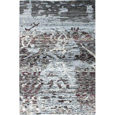 Sari Hand-Woven Brown/Light Denim Blue Area Rug