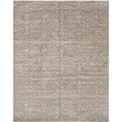 Finest Ushak Hand-Woven Dark Khaki Area Rug