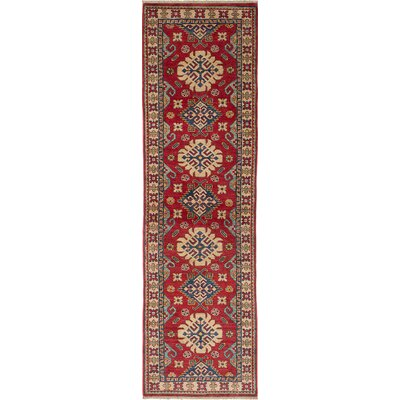 Bernard Wool Hand-Woven Red Area Rug Rug Size: Runner 28 x 93