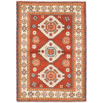 Royal Kazak Hand-Woven Cream/Dark Copper Area Rug