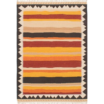 Barnett Hand-Woven Orange/Red Area Rug
