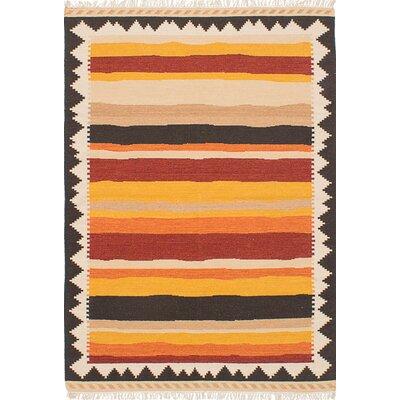 Barnett Hand-Woven Orange/Red Area Rug
