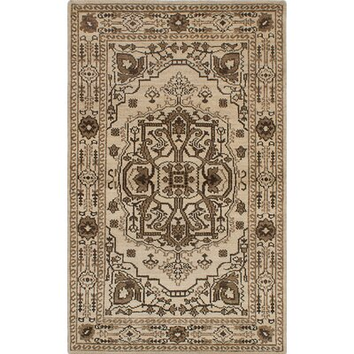 One-of-a-Kind Brewster Hand-Woven Cream Area Rug