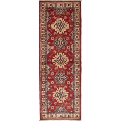 One-of-a-Kind Bernard Traditional Hand-Woven Cream/Red Area Rug