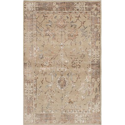 One-of-a-Kind Poplin Hand-Woven Khaki Area Rug