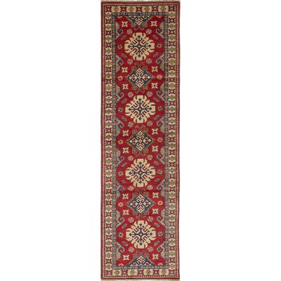 Bernard Wool Hand-Woven Red Area Rug Rug Size: Runner 27 x 99