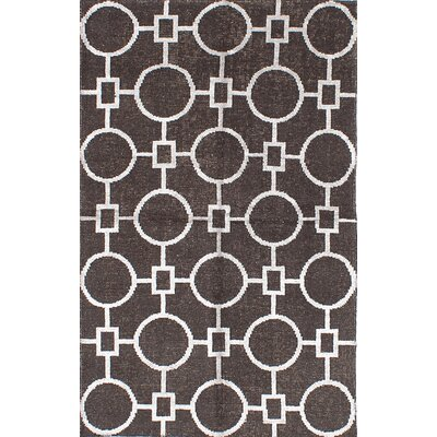 La Seda Hand-Woven Dark Brown Area Rug