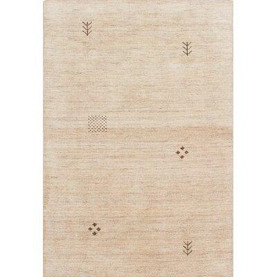 Campos Hand-Woven Cream Area Rug Rug Size: 4 x 511