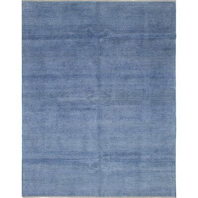 One-of-a-Kind Shevra Hand-Woven Dark Blue/Gray Area Rug