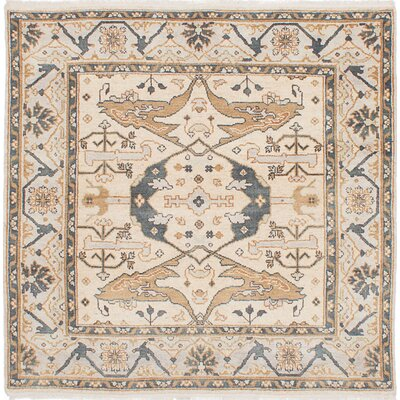 One-of-a-Kind Royal Ushak Hand-Woven Cream Area Rug