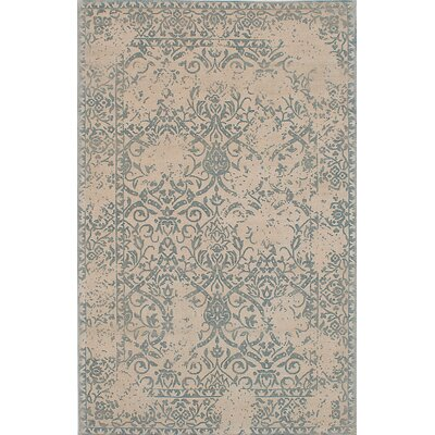 One-of-a-Kind Elina Handmade Wool Cream/Turquoise Area Rug