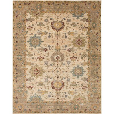 Bassford Hand-Woven Ivory Area Rug Rug Size: 9 x 118