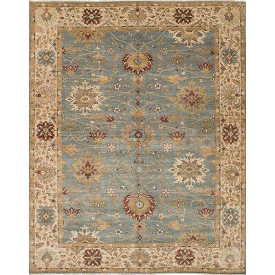 Bassford Hand-Woven Light Turquoise Area Rug Rug Size: 9 x 118