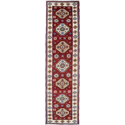Royal Kazak Hand-Woven Dark Red Area Rug