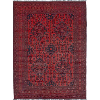One-of-a-Kind Rosales Hand-Woven Wool Red Area Rug