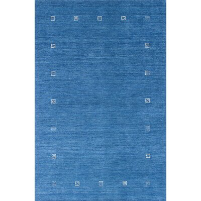 Campos Hand-Woven Dark Baby Blue Area Rug Rug Size: Rectangle 4' x 6'