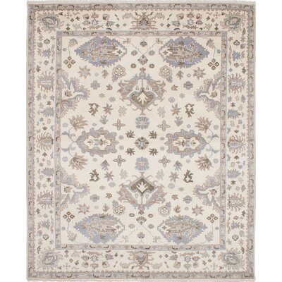 Royal Ushak Hand-Woven Cream Area Rug