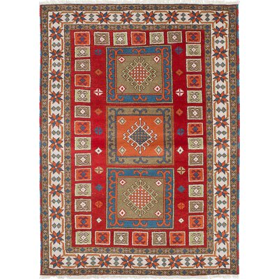 Royal Kazak Hand-Woven Red Area Rug