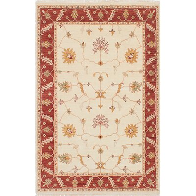 One-of-a-Kind Chobi Twisted Hand-Woven Cream Area Rug