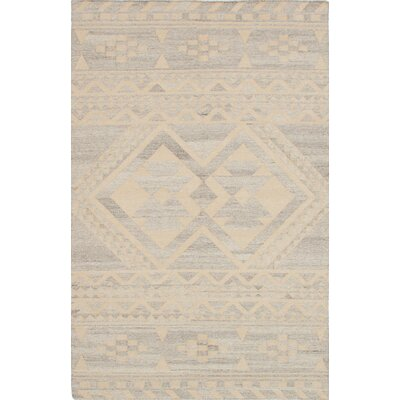 Tribeca Hand-Woven Beige/Gray Area Rug Rug Size: 4 x 6