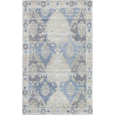 Monterey Hand-Knotted Blue/Beige/Gray Area Rug Rug Size: 8 x 10